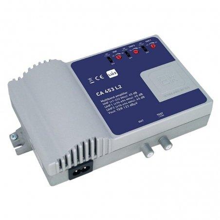 Central banda ancha 40-45 dB 3 entradas: VHF, 2xUHF, SAT, 1 salida