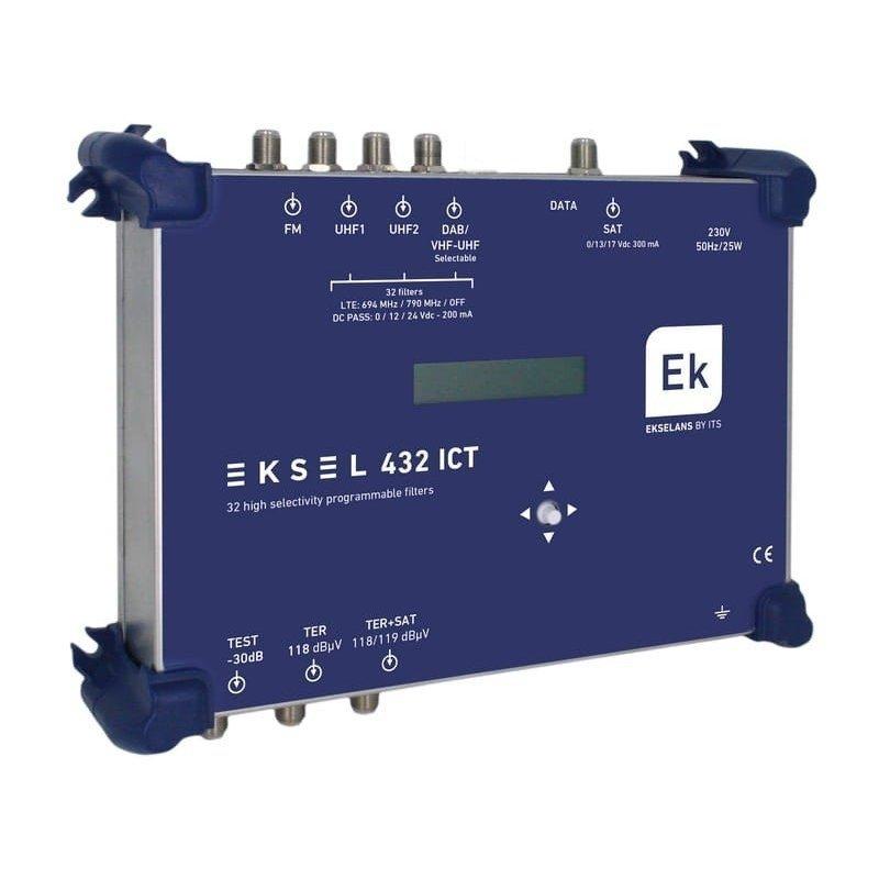Central digital 5 entradas: FM, DAB/VHF/UHF, 2xUHF, SAT, 32 filtros UHF ultraselectivos