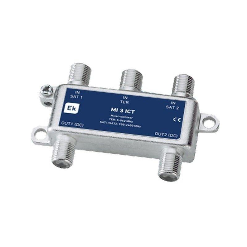 Mezclador/desmezclador 3 entradas: TER, 2xSAT 2 salidas