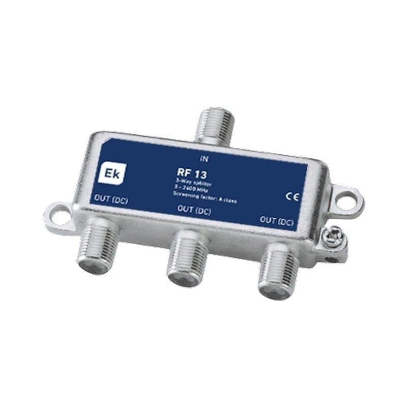 Distribuidor 3 salidas 7-9,5 dB pérdida de inserción Clase A