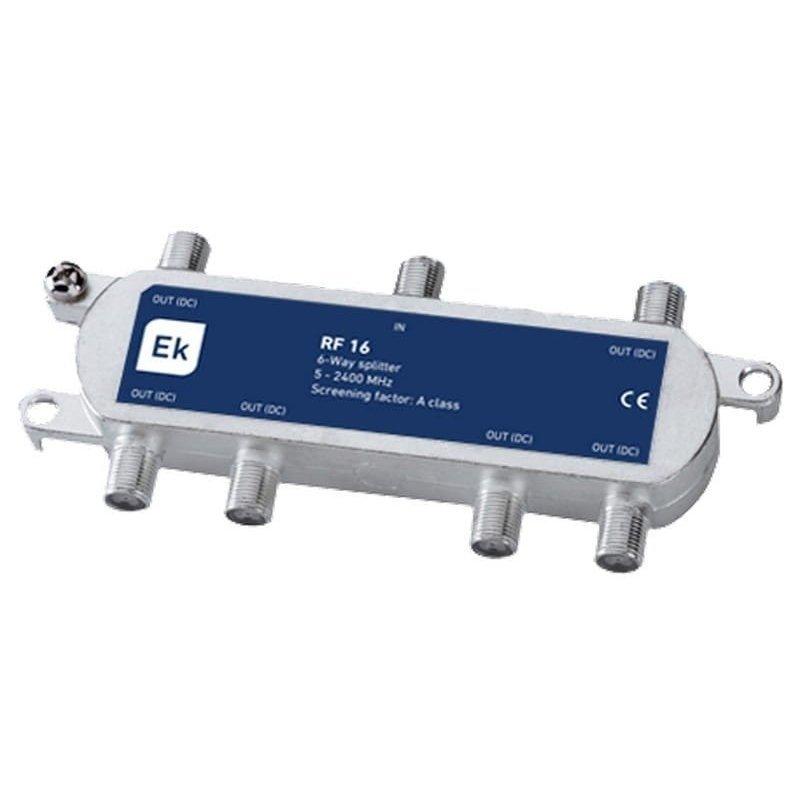 Distribuidor 6 salidas paso DC 11-14,5 dB pérdida de inserción Clase A