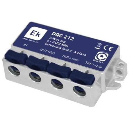 Derivador blindado 2 salidas paso DC 12 dB pérdida de derivación Clase A
