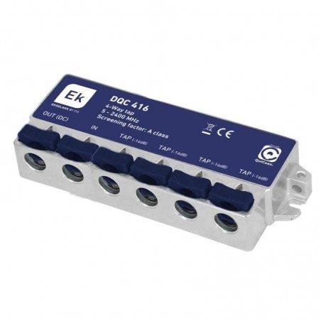 Derivador blindado 4 salidas paso DC 16 dB pérdida de derivación Clase A