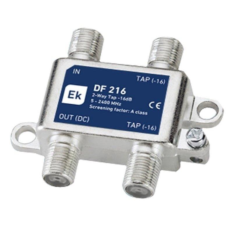 Derivador blindado 2 salidas paso DC 16 dB pérdida de derivación Clase A
