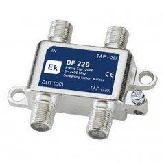 Derivador blindado 2 salidas paso DC 20 dB pérdida de derivación Clase A