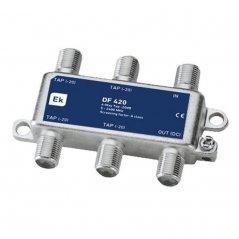 Derivador blindado 4 salidas paso DC 20 dB pérdida de derivación Clase A
