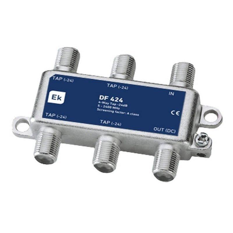 Derivador blindado 4 salidas paso DC 24 dB pérdida de derivación Clase A