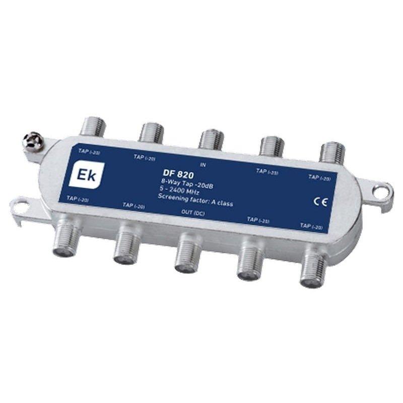 Derivador blindado 8 salidas paso DC 20 dB pérdida de derivación Clase A