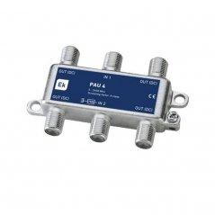 PAU blindado 4 salidas paso DC 8,1-10 dB pérdida de inserción Clase A