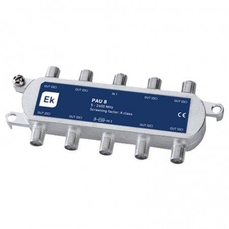 PAU blindado 8 salidas paso DC 12,5-16,5 dB pérdida de inserción Clase A