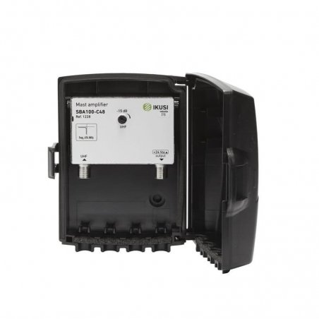 Amplificador mástil 40 dB entrada UHF LTE 2, 1 salida