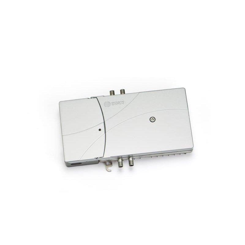 Amplificador línea 35-40 dB 3 vías: TER, SAT y retorno pasiva 5-35 MHz