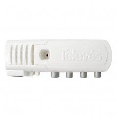 Amplificador interior (DC) 12-20 dB entrada UHF LTE 2, 3 salidas (2+TV), CEI