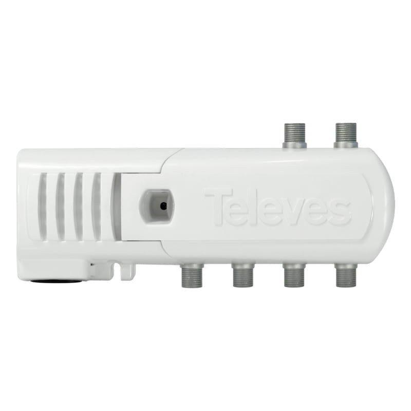 Amplificador interior 11-16 dB entrada UHF LTE 2, 5 salidas (4+TV), F