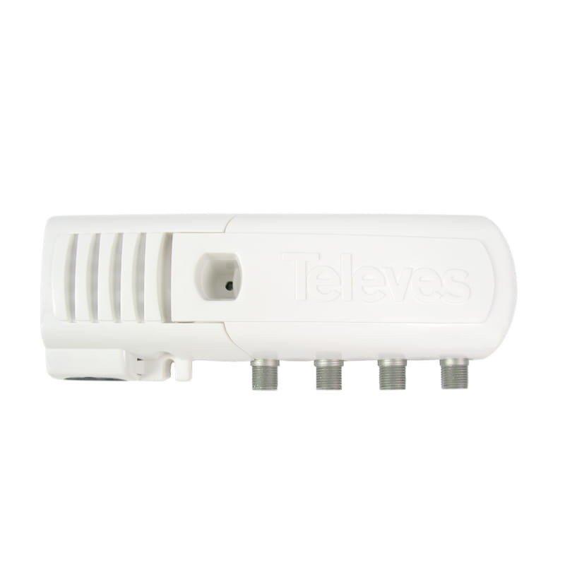 Amplificador interior automático 0-10-20 dB entrada UHF LTE 2, 3 salidas (2+TV)