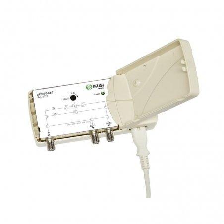 Amplificador interior 18-22 dB entrada Terr / SAT / Vr., 2 salidas