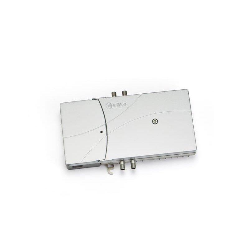 Amplificador línea 35-40 dB 3 vías: TER, SAT y retorno activa 5-65 MHz