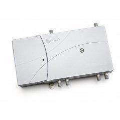 Amplificador doble línea 35-40 dB 3 vías: TER, 2xSAT 2 salidas