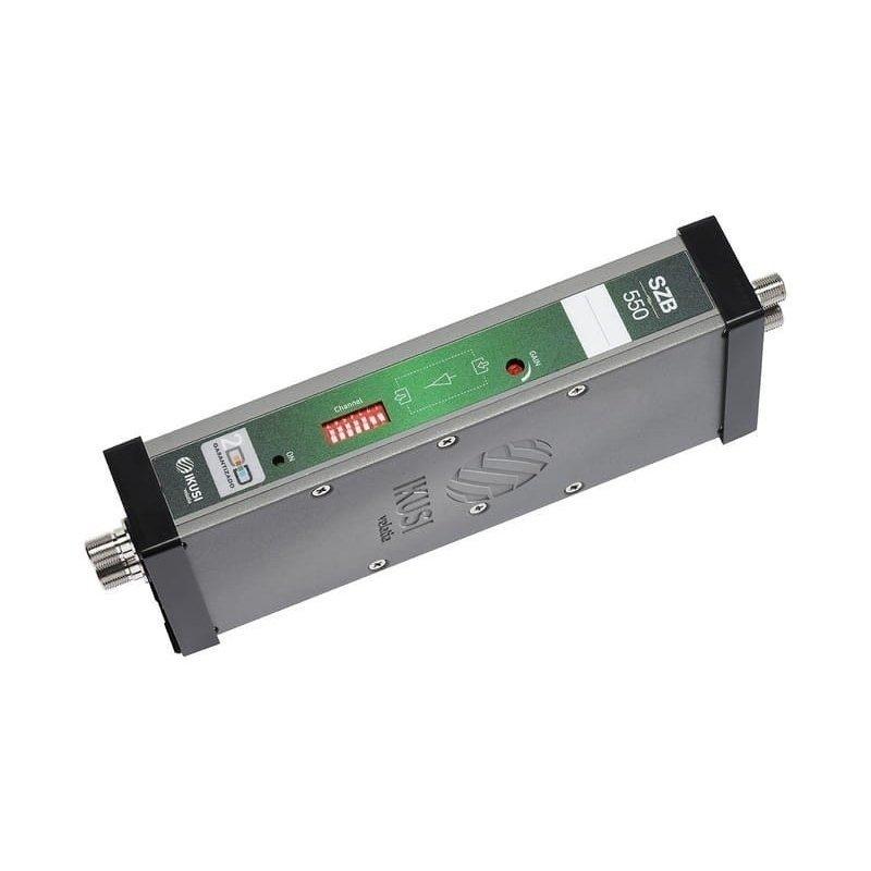 Amplificador modular UHF configurable 30 dB CAG 4 filtros 8 Mhz