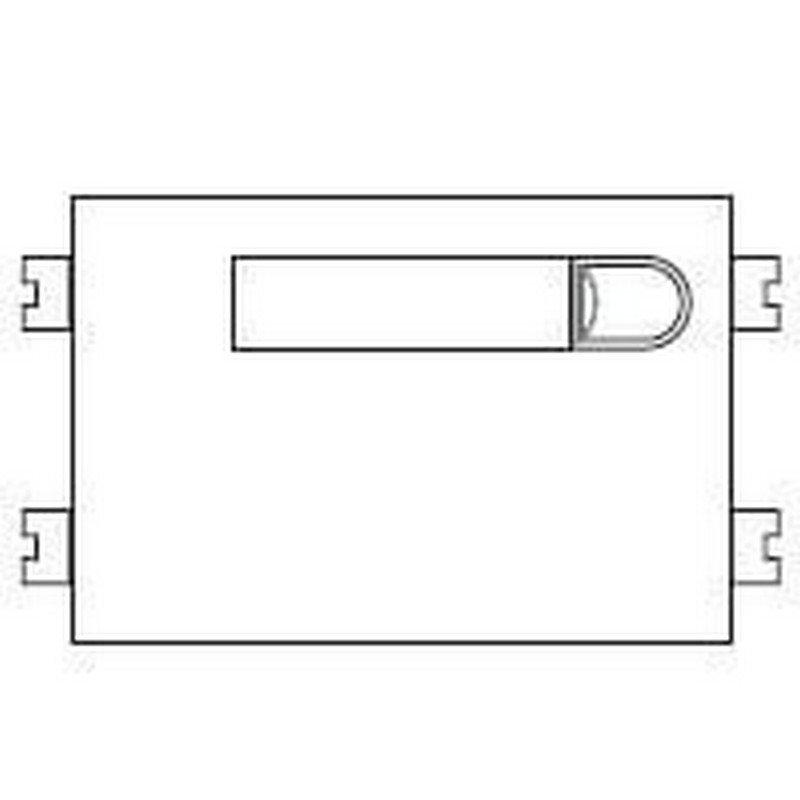 Repuesto original del módulo del pulsadores 4+N 101 de la serie Citymax de porteros y videoporteros de FERMAX