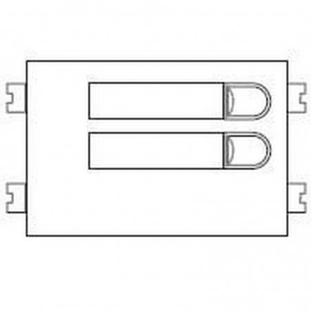 Repuesto original del módulo del pulsadores 4+N 102 de la serie Citymax de porteros y videoporteros de FERMAX