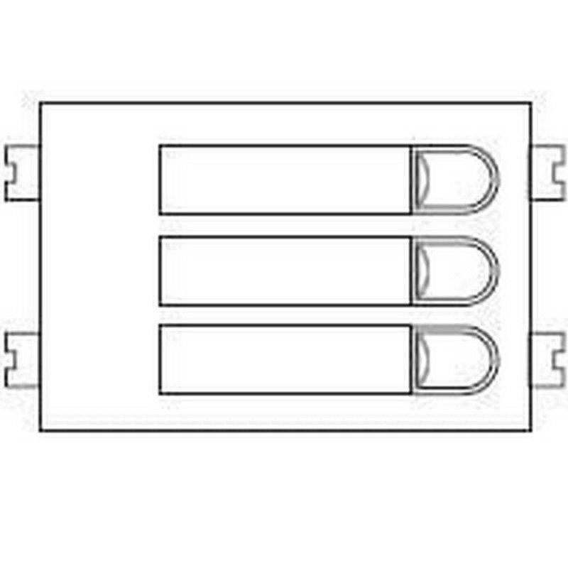 Repuesto original del módulo del pulsadores 4+N 103 de la serie Citymax de porteros y videoporteros de FERMAX
