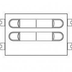 Repuesto original del módulo del pulsadores 4+N 202 de la serie Citymax de porteros y videoporteros de FERMAX
