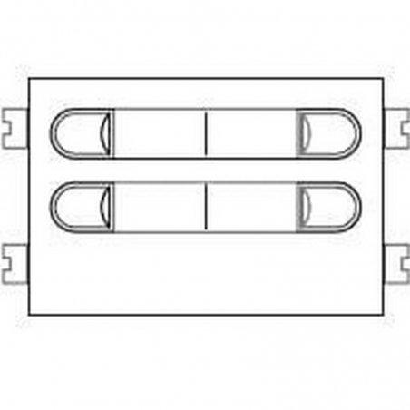 Repuesto original del módulo del pulsadores VDS 202 de la serie Citymax de porteros y videoporteros de FERMAX