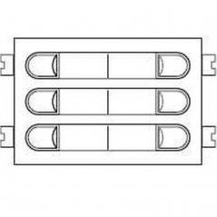 Repuesto original del módulo del pulsadores 4+N 203 de la serie Citymax de porteros y videoporteros de FERMAX