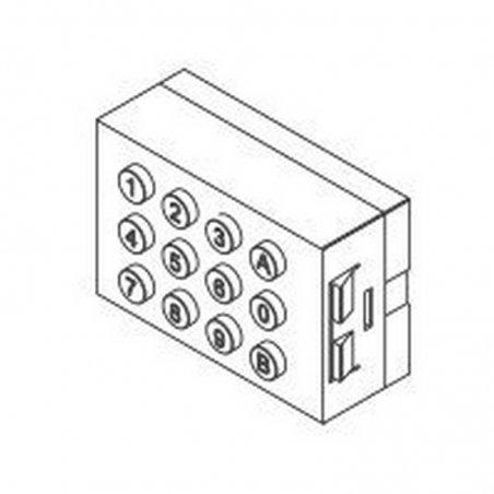 Repuesto original del teclado Memokey 100C Marine de la serie Marine Classic de porteros y videoporteros de FERMAX