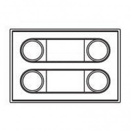 Repuesto original de 4 pulsadores P202 de la serie Bruto de porteros y videoporteros de FERMAX
