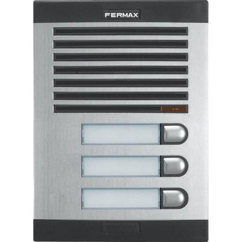 Placa de portero City Classic S3 de 3 pulsadores de Fermax
