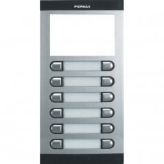 Placa de portero City Classic S5 de 12 pulsadores con directorio de Fermax