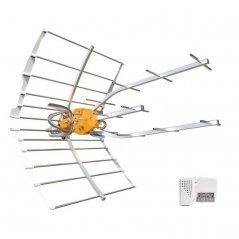 Antena exterior TDT inteligente LTE2 38 dB de ganancia con alimentador de  Televés