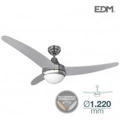Ventilador de techo Egeo 60W 3 aspas plateado/níquel de EDM