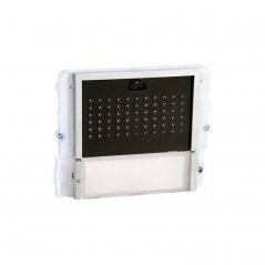 Módulo de audio Ikall 1 pulsador Simplebus/VIP tapa negra de Comelit