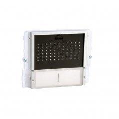 Módulo de audio Ikall 2 pulsadores Simplebus/VIP tapa negra de Comelit