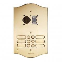 Placa de videoportero Roma 32 pulsadores 4 columnas Simplebus/VIP de latón de Comelit