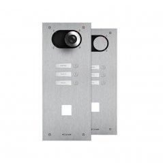 Placa de portero/videoportero Switch 3 pulsadores con abertura para Lector Simplekey 4+N/Simplebus/VIP de Comelit