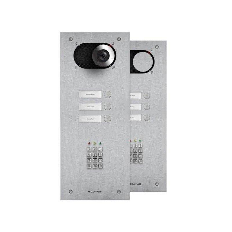 Placa de portero/videoportero Switch 3 pulsadores con acceso numérico Simplebus/VIP de Comelit