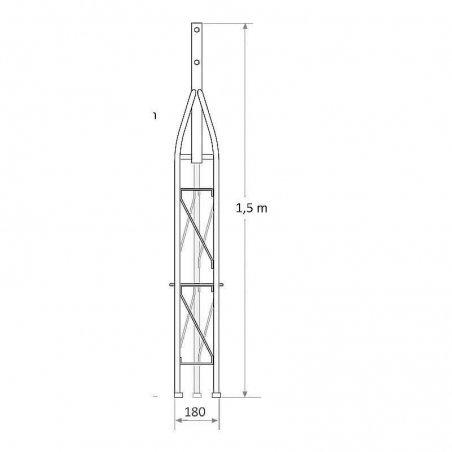 Tramo superior 1,5 m torreta 180 mm reforzada