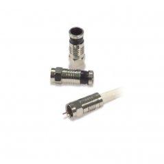 Conector F de presión de cable coaxial (25 u.) de Satelite Rover