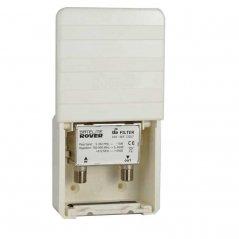 Filtro de rechazo LTE 2 mástil 1-25-60 dB (5-694 MHz) de Satelite Rover