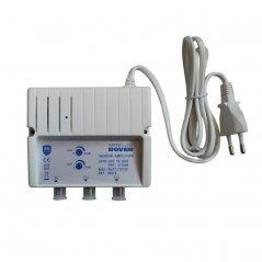 Amplificador interior 28-30 dB entrada UHF LTE 2/SAT 2 salidas de Satelite Rover