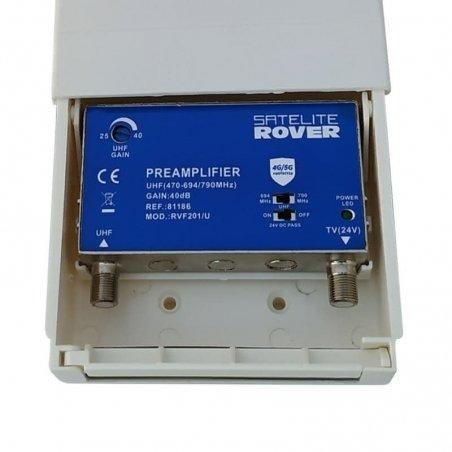 Amplificador mástil 40 dB entrada UHF LTE 2