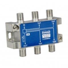 Derivador 4 salidas paso DC 20 dB pérdida de derivación de Satelite Rover