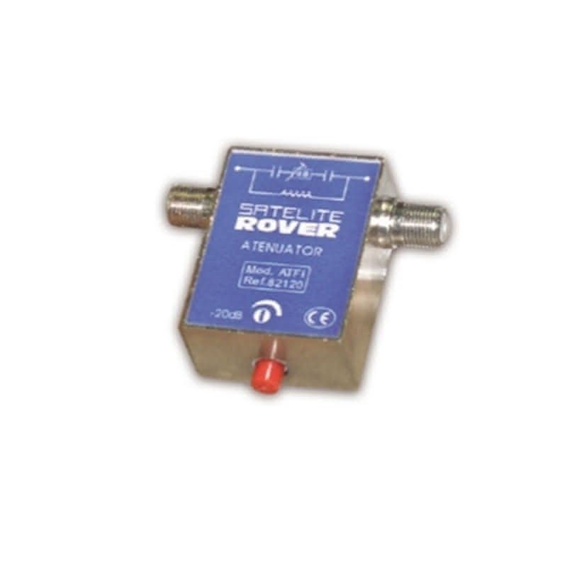 Atenuador regulable 0..20 dB paso DC conexión F (5-2300 MHz) de Satelite Rover