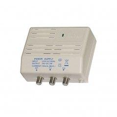 Fuente alimentación amplificador 24V-150mA 1e/2s (47-862 MHz) de Satelite Rover