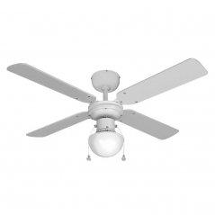 Ventilador de techo Caribe 50W 4 aspas blanco de EDM