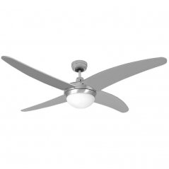 Ventilador de techo Caspio 60W 4 aspas plateado/níquel de EDM